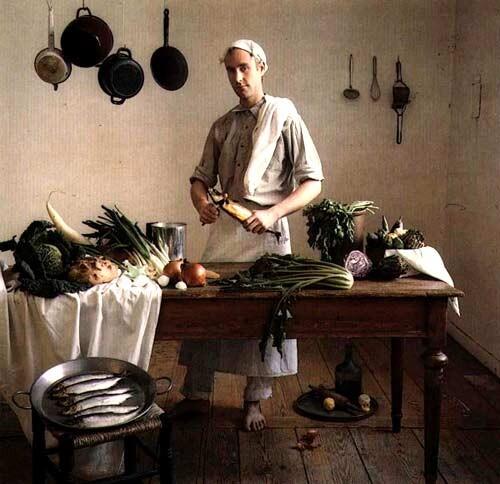 Anne Zahalka The Cook (Michael Schmidt/architect, cook), 1987; Ilfochrome print; 80 x 80 cm; Edition of 10 + AP 2; enquire