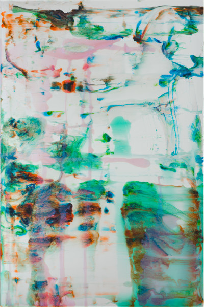 Dale Frank Mind Body and Spritz, 2020; powder pigments in resin, epoxyglass, on Perspex; 150 x 100 cm; Enquire