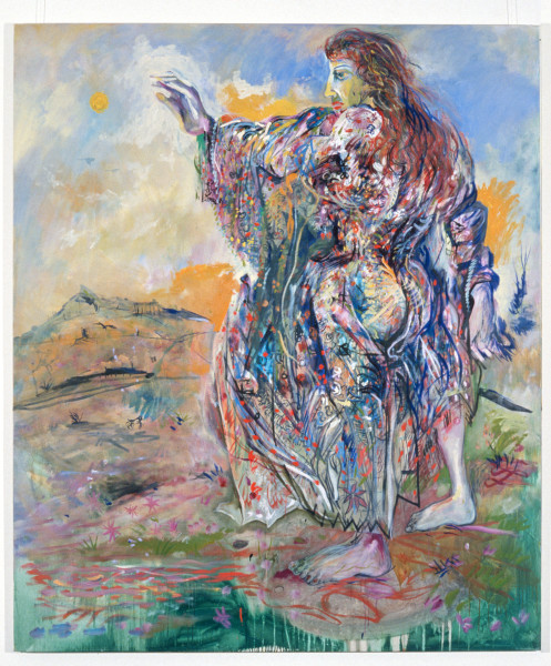 Victor Rubin SHANGRI-LA-LA-LA, 1989; oil on primed linen; 199 x 167.5 cm; enquire
