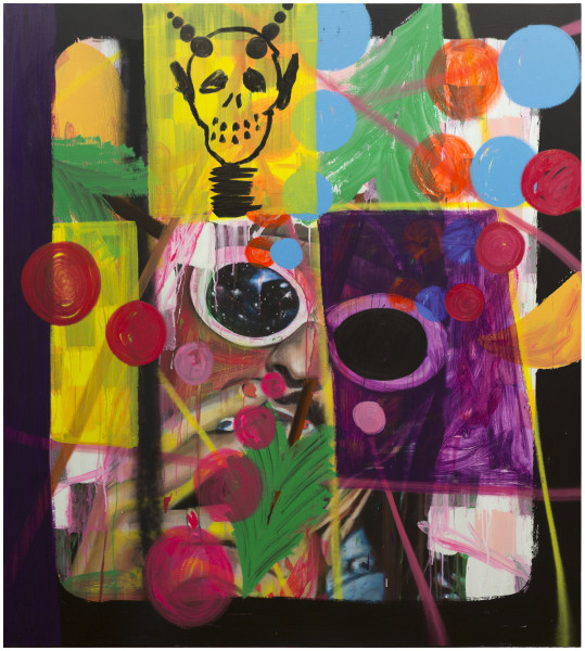 David Griggs Sorry Kurt, 2017; acrylic and oil on canvas; 200 x 180 cm; enquire