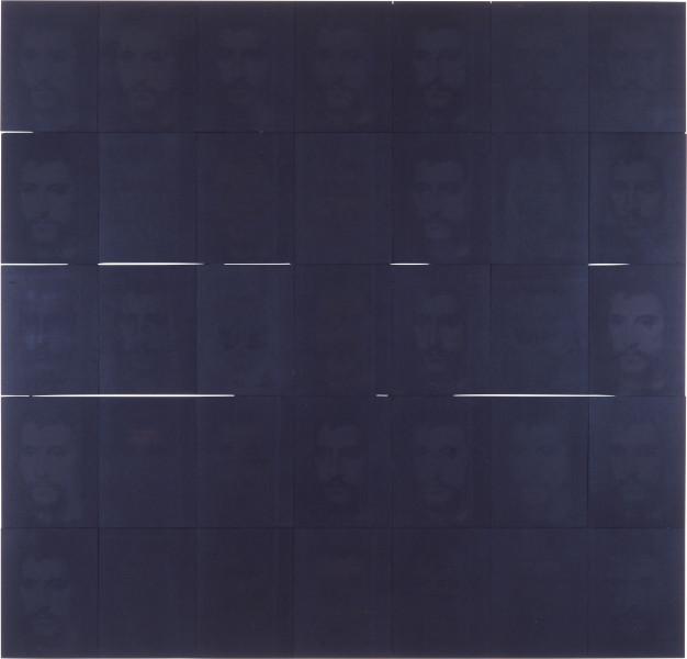 Lindy Lee Black + Black + Black, 1990; photocopy and acrylic on stonehenge paper; 175.5 x 173.5 cm; enquire
