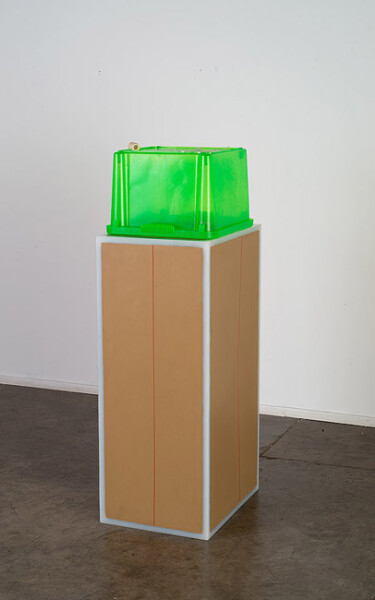 Hany Armanious Ejaculate and dick, 2013; cast pigmented polyurethane resin; 140 x 40 x 50 cm; Edition of 2 + AP 1; enquire
