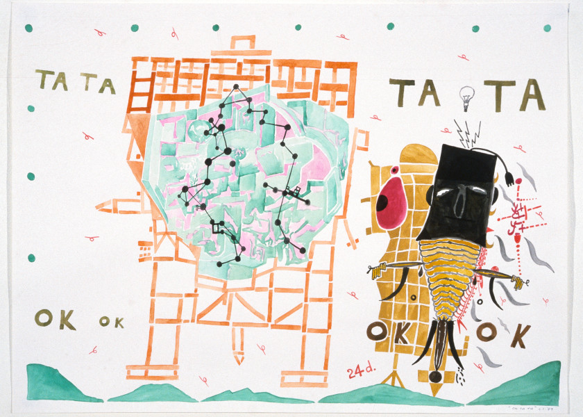 Gareth Sansom Ok Ta Ta, 1989; watercolour on paper; 56 x 76 cm; enquire