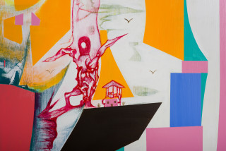 Gareth Sansom The Seventh Seal (version 3) (detail), 2019; oil and enamel on linen; 183 x 244 cm; enquire
