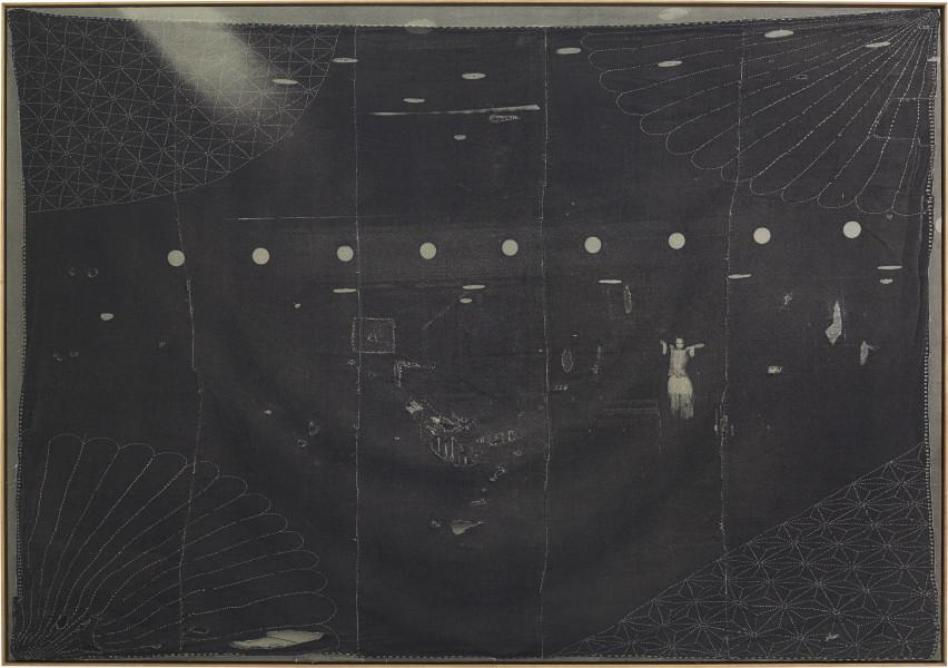 David Noonan Untitled, 2015; silkscreen on linen collage; 214 x 304 cm; enquire