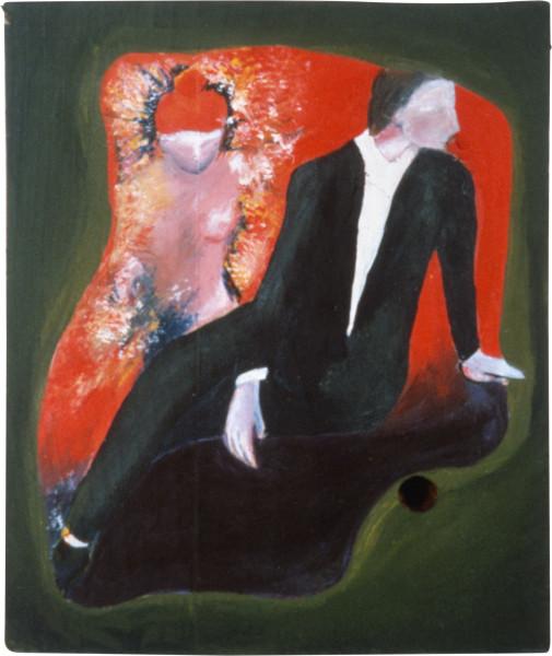 Vivienne Shark LeWitt A Rebours, 1983; acrylic on wood; 14 x 16 cm; enquire