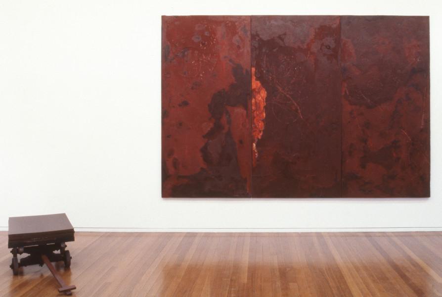 Mike Parr Veneer ('The Dead Class'), 1992; acrylic on linen; 51 x 60 cm; enquire