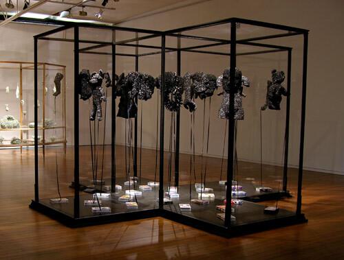 Fiona Hall Scar tissue, 2003-04; video tape; vitrine dimensions: 210 x 330 x 330cm; enquire