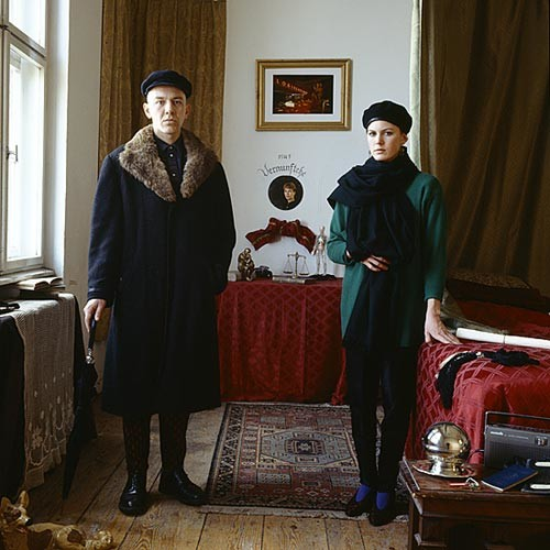 Anne Zahalka Marriage of Convenience (Graham  Budgett and Jane Mulfinger/ artists), 1987; Ilfochrome print; 80 x 80 cm; Edition of 10; enquire