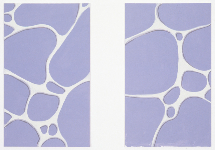 Tony Clark Jasperware painting, 1995; acrylic on canvas; 2 panels, each 152 x 92 cm; enquire