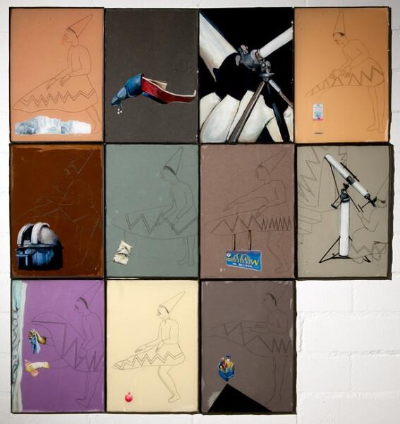 Hossein Ghaemi Hossein Ghaemi, 2009; paper, gouache, watercolour, liquid glass, pomegranate juice, the artists blood; 89.5 x 85.5 cm; enquire