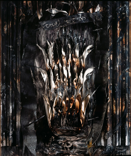Fiona Hall Divine Comedy Inferno, canto III: The Gates of Hell, 1988; polaroid photograph; 53 x 68 cm; series of 12 images; enquire