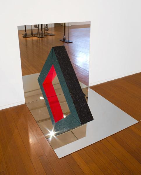 Jonny Niesche A. Sprinkle, 2012; mirror, wood, glitter, glue, acrylic paint; 120 x 120 x 120 cm; enquire