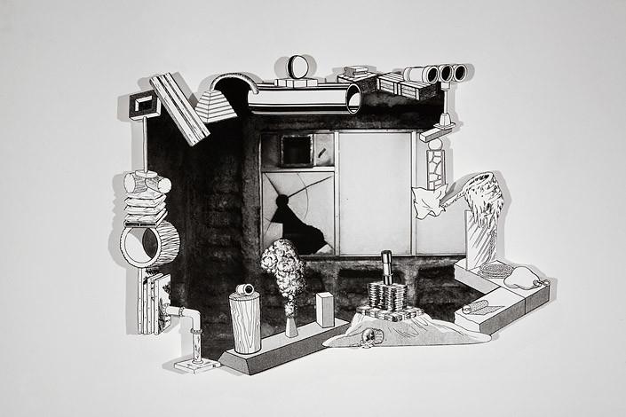 Teppei Kaneuji Games, Dance & the Constructions (Nowhere Sculpture) #2, 2012; silk screen print on FRP; 100 x 135 x 9 cm; enquire