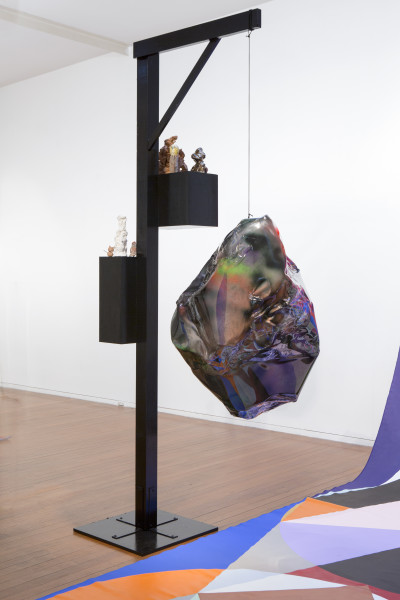 Mikala Dwyer Shadow Lamp II, 2015; Wood, plastic, acrylic paint, ceramic; 283 x 150 x 170 cm; enquire