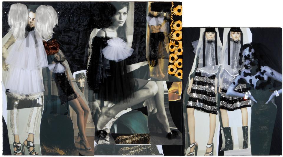 "Jacqueline Fraser 2. ""MAGIQUE/Area 51"", 2008; backlit photographs and mixed media; 2 panels: 182 x 212; 152 x 122; enquire"