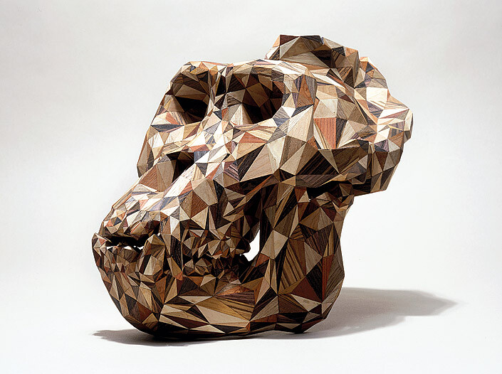 James Angus Gorilla gorilla gorilla, 2005; wood veneer, nylon; 24 x 18 x 32 cm; enquire