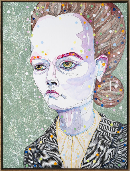 Del Kathryn Barton to hold 1, 2013; synthetic polymer paint and gouache on polyester canvas; 82 x 62 cm; enquire