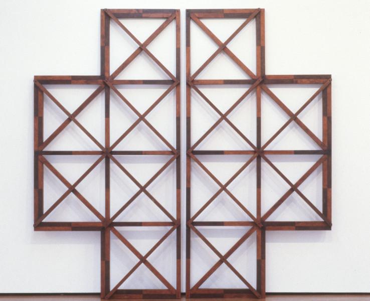 Hilarie Mais Untitled, 1992; painted wood; 263 x 263 x 7 cm; enquire