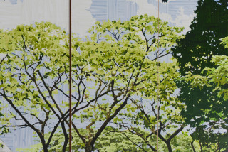 Gary Carsley D.120 Botanical Gardens Singapore (detail), 2019-20; C-type print, dibond with split battens, IKEA cupboard, chair and stool; overall dimensions as assembled: 236.4 x 60 x 100 cm; enquire