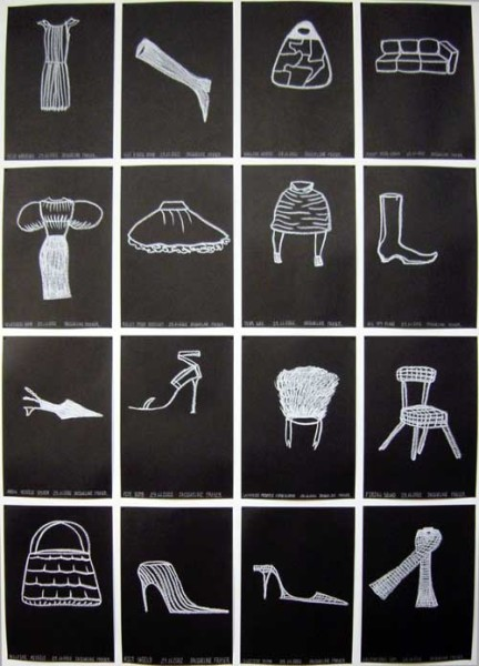 Jacqueline Fraser Small Acid Free Black Paper Drawings 2002, 2002; Oil stick on paper; enquire