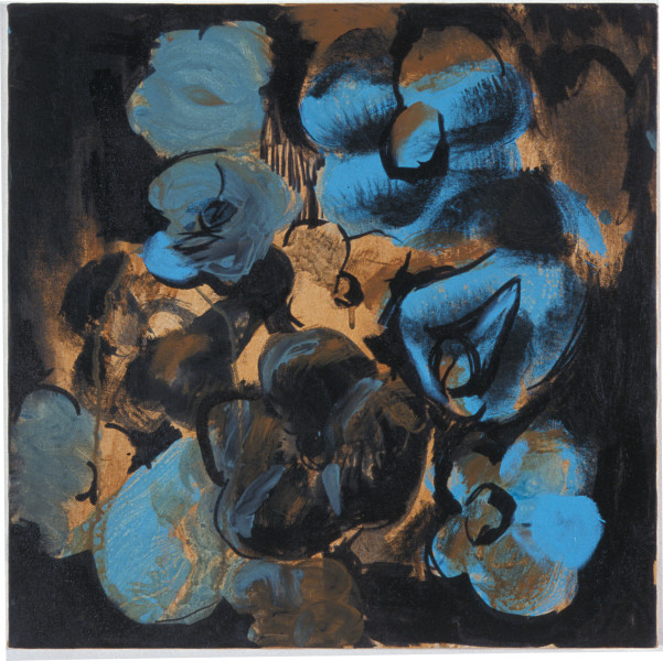 Tony Clark Flowerpiece with Old Roses, 2003; acrylic on canvas; 46 x 46 cm; enquire