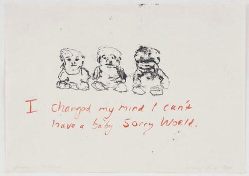 Tracey Emin Generic Children, 2003; black and red ink on paper; 30 x 42 cm; enquire