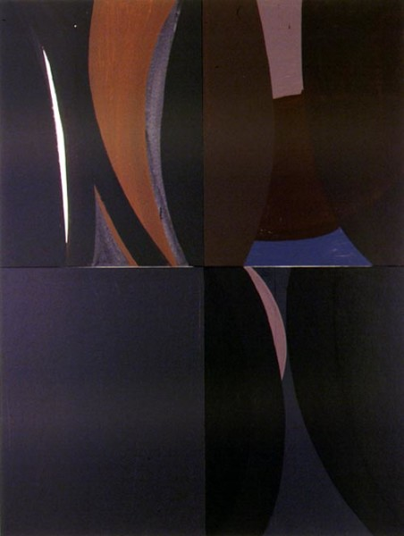 Tony Clark Lontano XXIII, 2000; from the series Lontano; Acrylic on canvas board; 122 x 91.5 cm; 4 panels; enquire