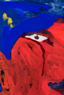 Tom Polo so into you, so into view (precarious neck) (detail), 2021; acrylic and Flashe on canvas; 182 x 132 cm; enquire