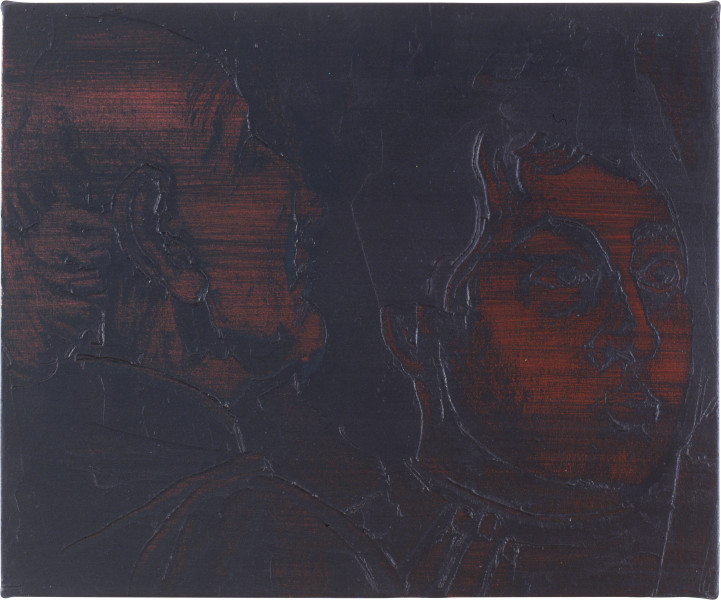 Lindy Lee St. Speratus, 1991; oils and wax on canvas; 42.5 x 51 cm; enquire