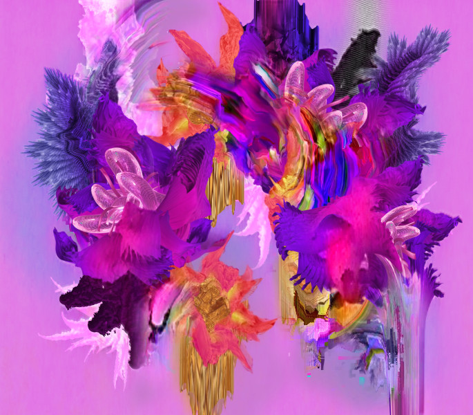Harley Ives Pictures with Flowers, 2019; 2 channel moving image with sound; approx. 3min seamless loop; edition of 5; Enquire