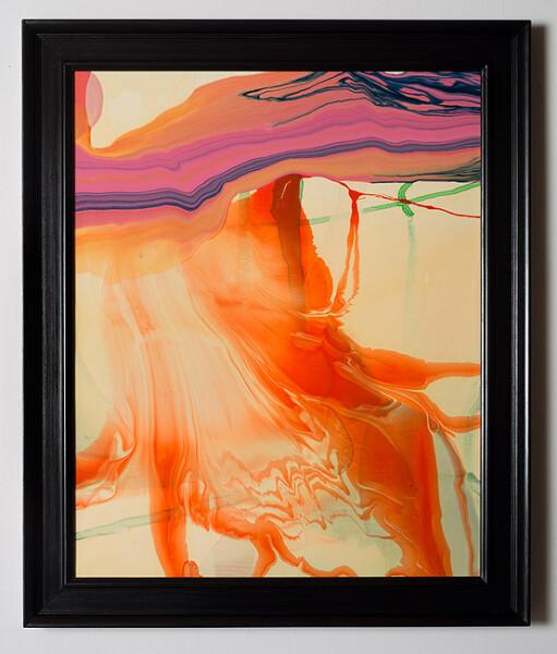 Dale Frank Conservative Institutional Beauty #14, 2012; Varnish on canvas; 87 x 74 cm; (framed); enquire