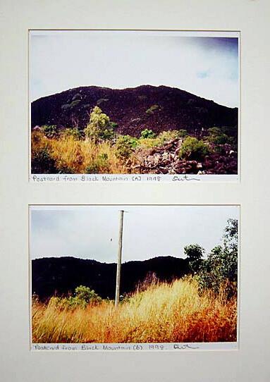 Destiny Deacon Postcard from Black Mountain A, B, 1998; 2 colour laser prints; 21 x 29.7 cm; Edition of 15; enquire