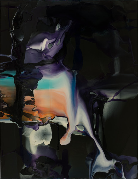Dale Frank Like a raucous Nun on abattoir assignment an alkaline conscience devoid yet full of little witticisms. His time had past, 2008; varnish on canvas; 200 x 260 cm; enquire