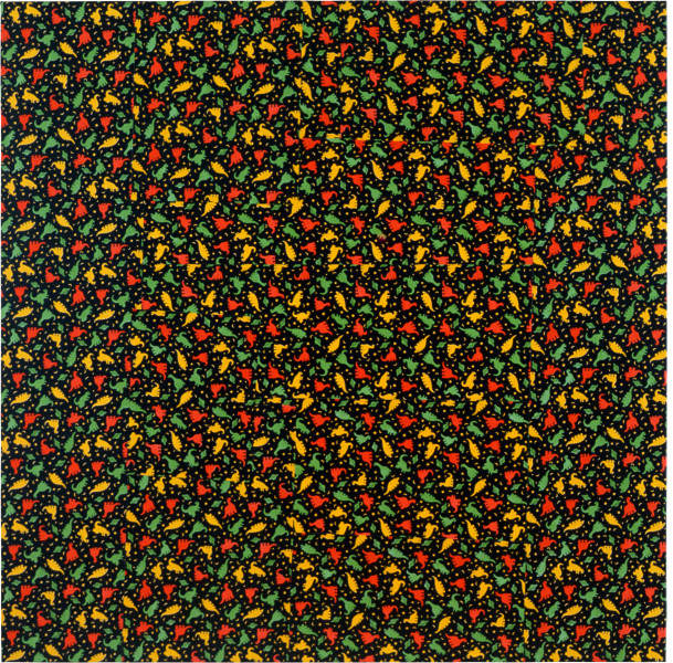 Dale Frank Getlost, 1990; printed adhesive vinyl (Contact) on canvas; 180 x 180 cm; enquire