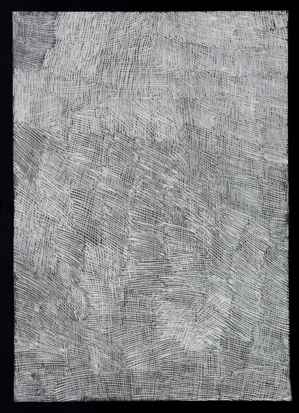 Nyapanyapa Yunupingu untitled, 2018; 4304L; paint pen on clear acetate; 84 x 60 cm; Enquire