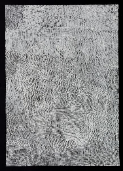Nyapanyapa Yunupingu untitled, 2018; 4304L; paint pen on clear acetate; 84 x 60 cm; enquire