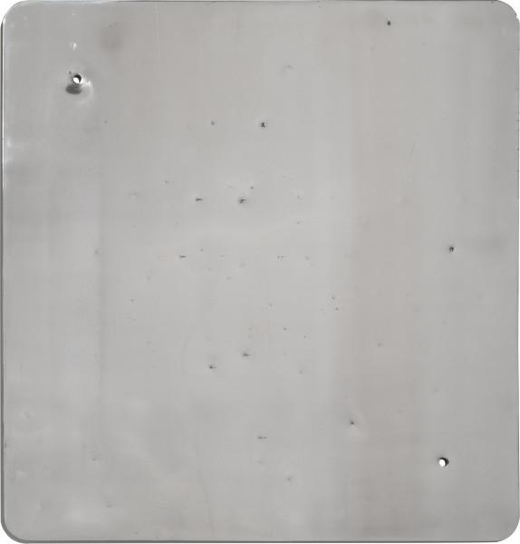 Marley Dawson Sign (Landscape/Constellation) #1, 2013; decommissioned 5052 Aluminium road sign; 76 x 76 cm; enquire
