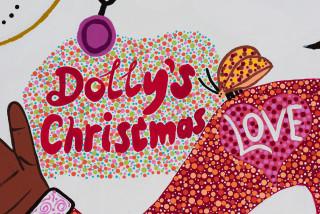 Kaylene Whiskey Dolly's Christmas (detail), 2021; acrylic on linen; 152 x 198 cm; enquire