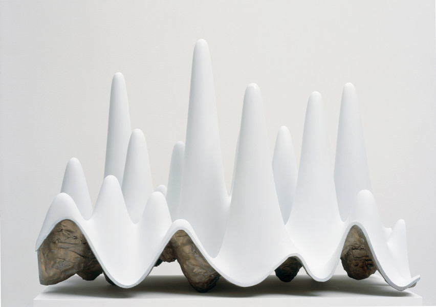 James Angus Mountains, Valleys, Caves, 2005; aluminium and acrylic; 45 x 62.5 x 35 cm; Edition of 5 + AP 1; enquire