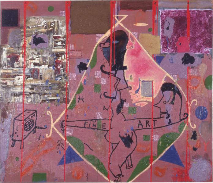 Gareth Sansom More Fine Art, 1988; oil and enamel on linen; 182.8 x 213.3 cm; enquire