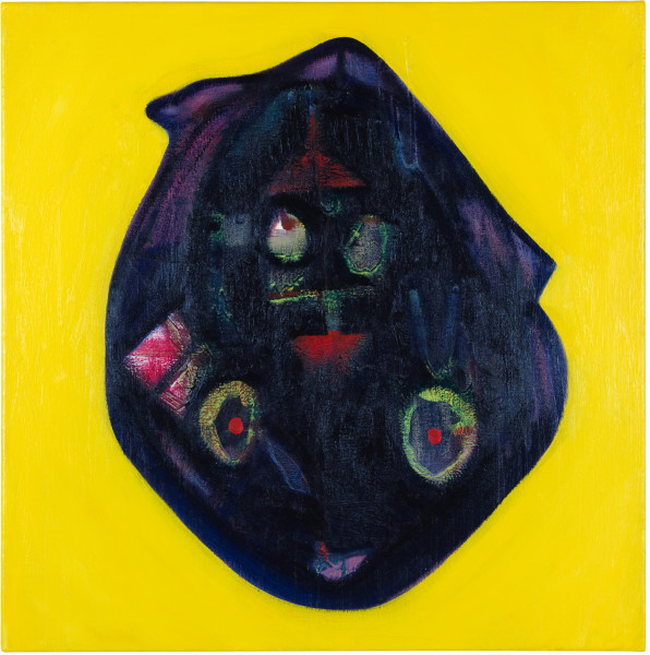 Gareth Sansom Animal mask, 2012; oil and enamel on linen; 60 x 60 cm; enquire