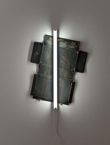 Bill Culbert Trip Brand, 2009; leather suitcase, fluorescent light; 124 x 97 x 10 cm; enquire