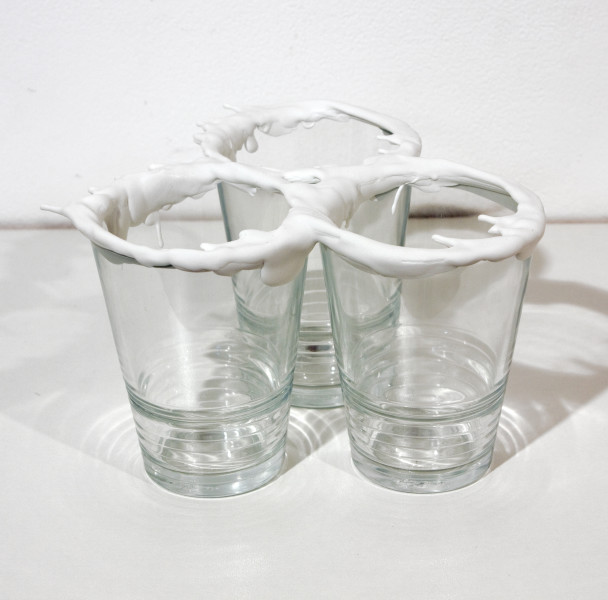 Teppei Kaneuji White Discharge (Glasses), 2011; found objects, resin, glue; 15 x 15 x 12 cm; enquire
