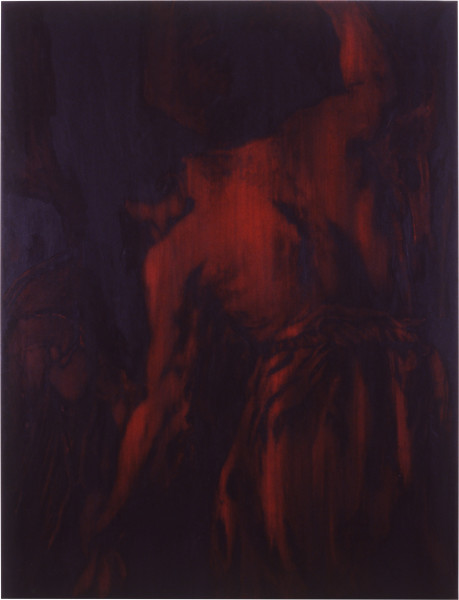 Lindy Lee Justice That Punishes, 1988; oils and wax on canvas; 189 x 145 cm; enquire