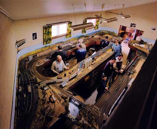Anne Zahalka Model Railway Club, 1998; type C photograph; 115 x 145 cm; Edition of 12; enquire
