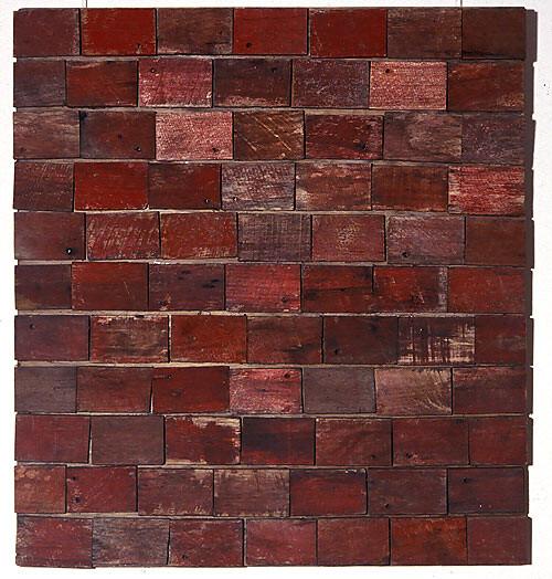 Rosalie Gascoigne Rose Red City 7, 1993; sawn wood on wood; 85.5 x 78 cm; enquire