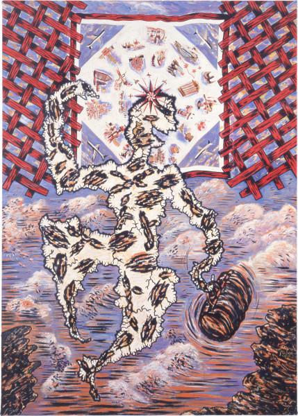 Susan Rankine Wanderlust/ The Traveller, 1985; oil on canvas; 213 x 152 cm; enquire