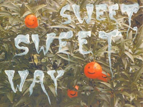 Nell Sweet, Sweet Way, 2003; acrylic paint on digital print; 42.5 x 52.5 cm; enquire