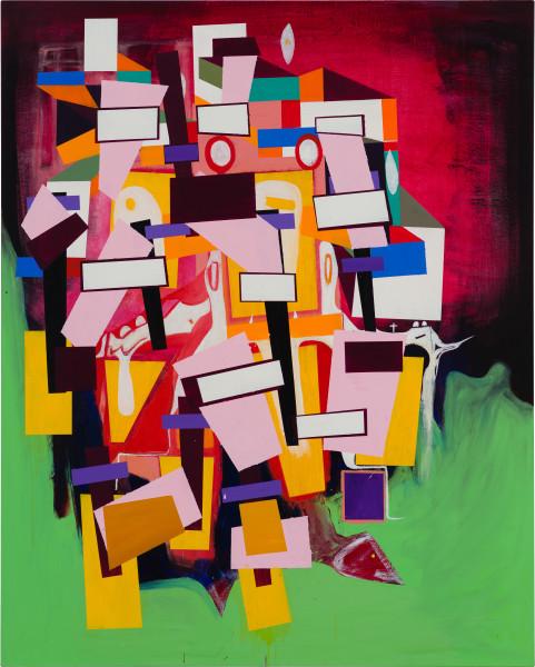 Gareth Sansom Construction, 2020; oil and enamel on linen; 152 x 122 cm; enquire